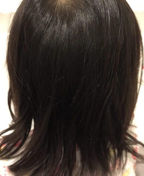 3歳の娘の髪の毛(ラッテ)のシャンプー&コンディショナーを使った後